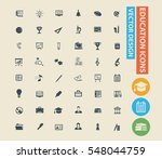 education icon set clean vector | Shutterstock .eps vector #548044759