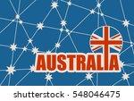 australia flag design concept.... | Shutterstock .eps vector #548046475