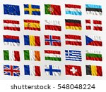 collection of waving flags of... | Shutterstock .eps vector #548048224