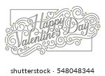 happy valentine s day card.... | Shutterstock .eps vector #548048344