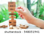 a asian man hand playing wood... | Shutterstock . vector #548051941