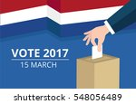 netherlands general election... | Shutterstock .eps vector #548056489