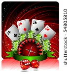 gambling illustration with...   Shutterstock . vector #54805810
