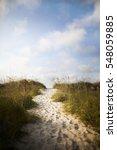 pathway in sand dune to beach   Shutterstock . vector #548059885