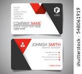 red fold modern creative... | Shutterstock .eps vector #548061919