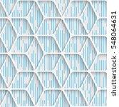 seamless minimal grid pattern.... | Shutterstock .eps vector #548064631