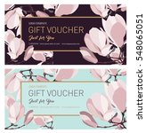 set of gift voucher. gift card. ... | Shutterstock .eps vector #548065051