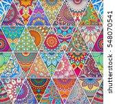 seamless mandalas pattern.... | Shutterstock .eps vector #548070541