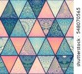 seamless mandalas pattern.... | Shutterstock .eps vector #548070565