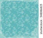 vintage fauna seamless pattern... | Shutterstock .eps vector #548086825