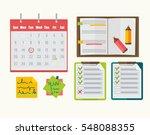calendar with mark on date ... | Shutterstock .eps vector #548088355