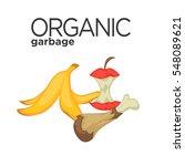 vector symbol of organic... | Shutterstock .eps vector #548089621