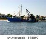 trawler leaving port | Shutterstock . vector #548097