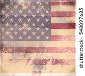 grunge usa flag | Shutterstock . vector #548097685