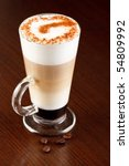 coffee latte with cinnamon - stock photo