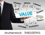 Value Concept. Man Holding A...