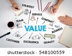 value concept. the meeting at... | Shutterstock . vector #548100559