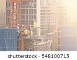 construction site workers | Shutterstock . vector #548100715