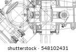 mechanical engineering drawing. ... | Shutterstock .eps vector #548102431