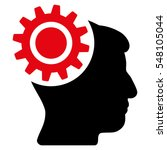 brain gear vector icon. style... | Shutterstock .eps vector #548105044