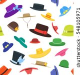 color hats set fashion for men... | Shutterstock .eps vector #548105971