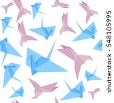 origami paper crane background...