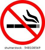 no smoking sign. vector. | Shutterstock .eps vector #548108569