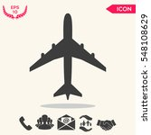 airplane icon | Shutterstock .eps vector #548108629