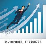 businessman breaking the wall... | Shutterstock .eps vector #548108737