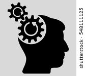 head cogs rotation vector icon. ... | Shutterstock .eps vector #548111125