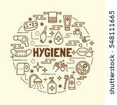hygiene minimal thin line icons ... | Shutterstock .eps vector #548111665
