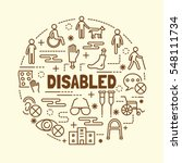 disabled minimal thin line... | Shutterstock .eps vector #548111734