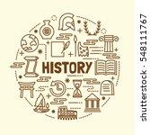 History Minimal Thin Line Icon...