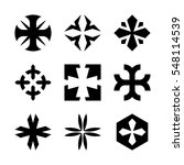 set of vector crosses and logo... | Shutterstock .eps vector #548114539