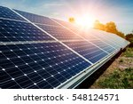 solar panel  photovoltaic ... | Shutterstock . vector #548124571