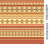 ethnic seamless pattern with... | Shutterstock .eps vector #548124859