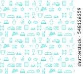 shabbat symbols seamless...   Shutterstock .eps vector #548126359