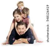 Small photo of Happy Healthy Family having Fun Enjoying Moment