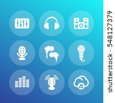 audio icons set  equalizer ... | Shutterstock .eps vector #548127379