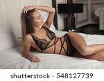 beautiful sexy lady in elegant...   Shutterstock . vector #548127739