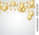 celebration party banner with... | Shutterstock .eps vector #548131261