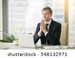 young businessman working at... | Shutterstock . vector #548132971