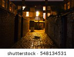 Dark Cobblestoned Alley At...