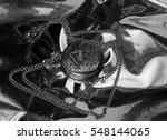 antique pocket watch on a black ... | Shutterstock . vector #548144065