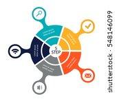 circular infographics of 5... | Shutterstock .eps vector #548146099