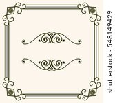 decorative frame | Shutterstock .eps vector #548149429