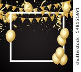 Gold Balloons  Confetti And...