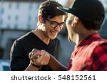 hand tight of a couple of good... | Shutterstock . vector #548152561