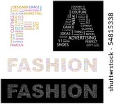 fashion. word collage. vector... | Shutterstock .eps vector #54815338