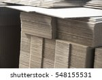 stacking used cardboard box for
